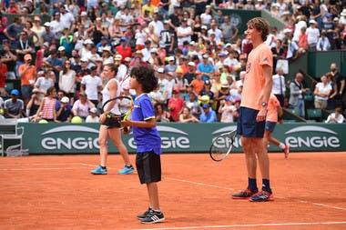 Alexander Zverev et Simona Halep enfant de Roland-Garros 2018