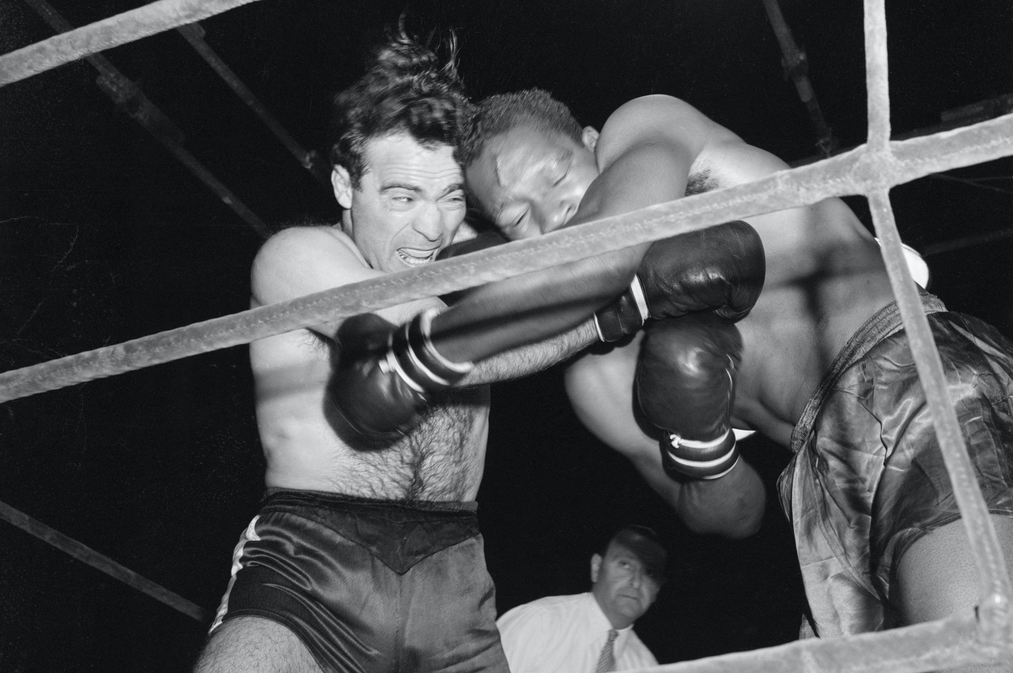 7 juillet 1946 - Cerdan vs Williams boxe à Roland-Garros