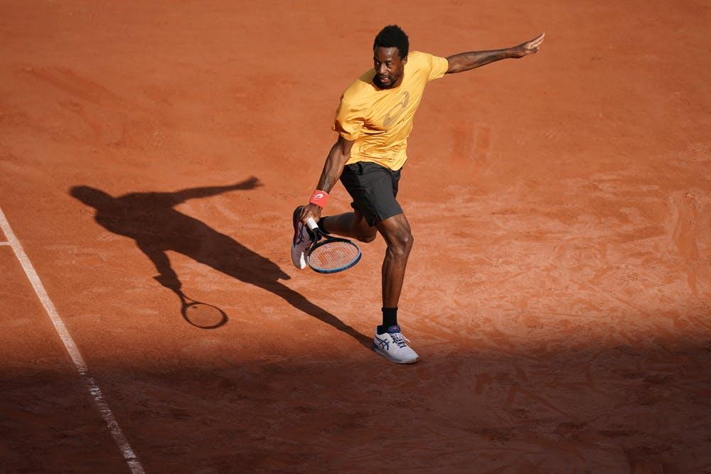 Gael Monfils, Roland Garros 2021, practice