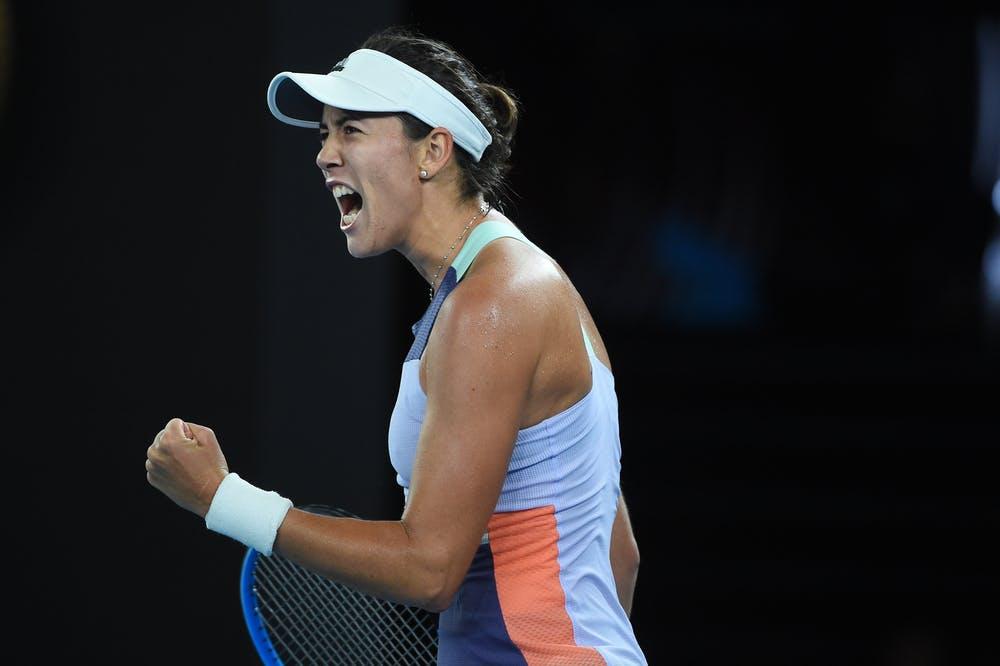 Garbiñe Muguruza pendant la finale de l'Open d'Australie 2020