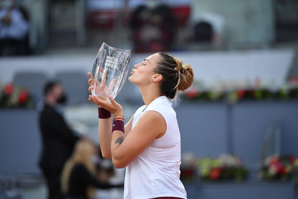 Aryna Sabalenka, Madrid Open 2021, trophy