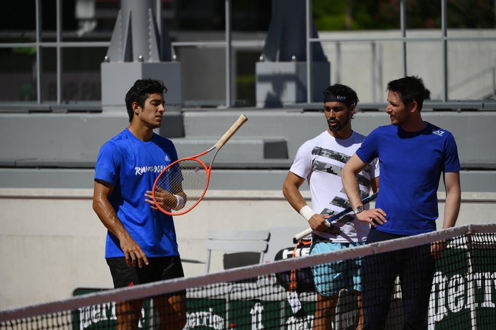Cristian Garin, Fabio Fognini, Roland Garros 2021, practice