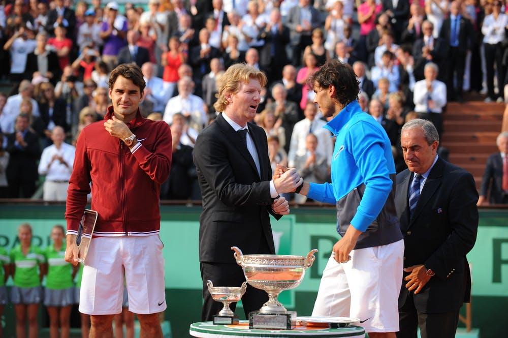 Roger Federer, Jim Courier, Rafael Nadal et Jean Gachassin