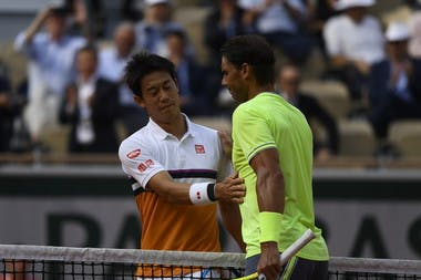 Rafael Nadal and Kei Nishikori