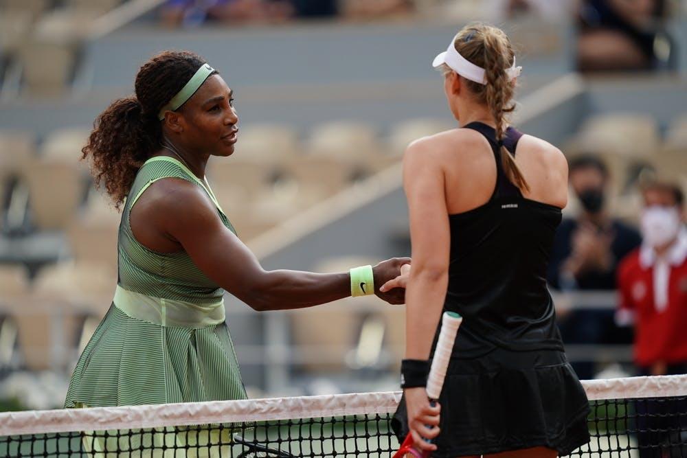 Serena Williams, Elena Rybakina, Roland Garros 2021, fourth round