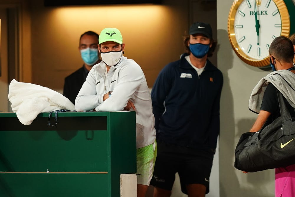 Rafael Nadal, Carlos Moya, Roland-Garros 2020, entraînement