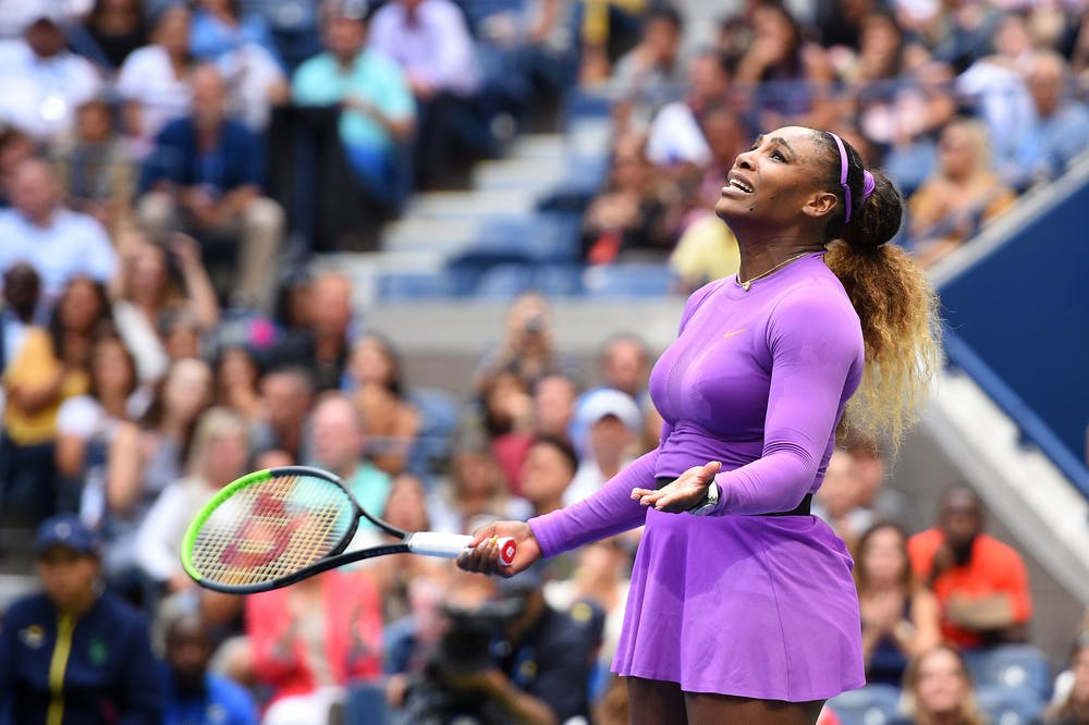 Desperate Serena Williams during the 2019 US Open finale