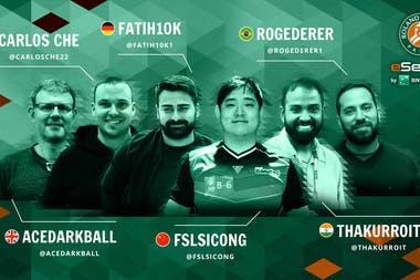 Les six premiers qualifiés des Roland-Garros eSeries by BNP Paribas