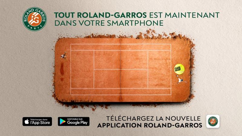 application officielle Roland-Garros 2018
