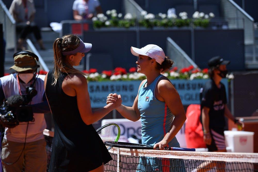 Paula Badosa, Ashleigh Barty, Madrid 2021 semi-finals