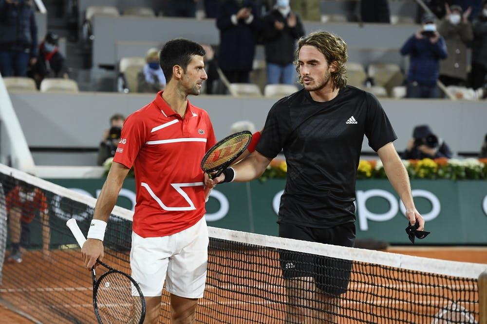 Novak Djokovic et Stefanos Tsitsipas