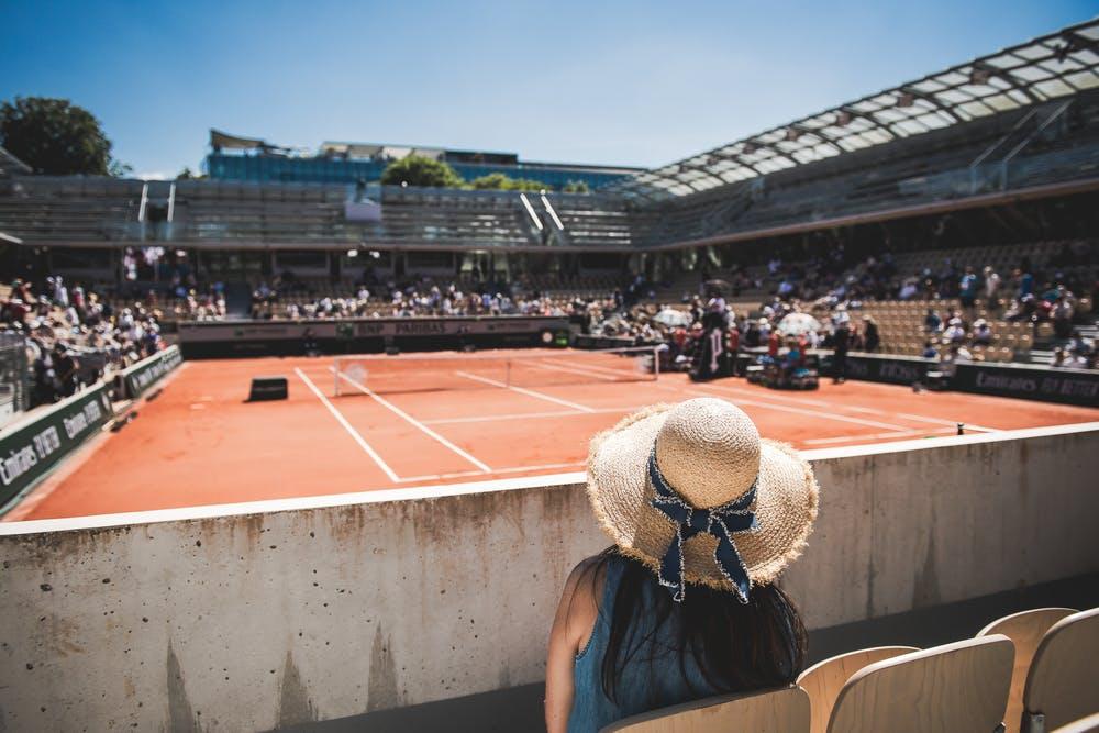 spectateurs Roland-Garros Simonne-Mathieu