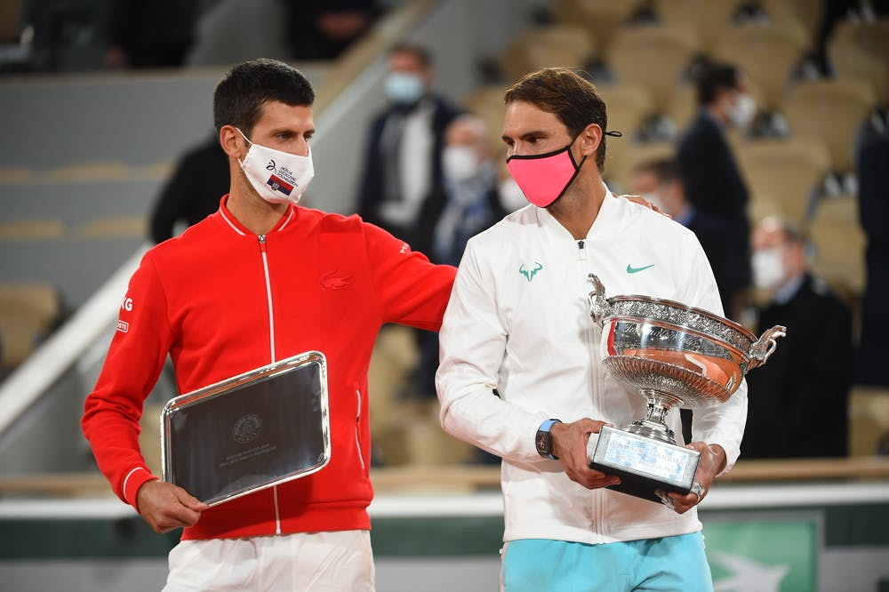 Rafael Nadal, Novak Djokovic, Roland Garros 2020, tropy