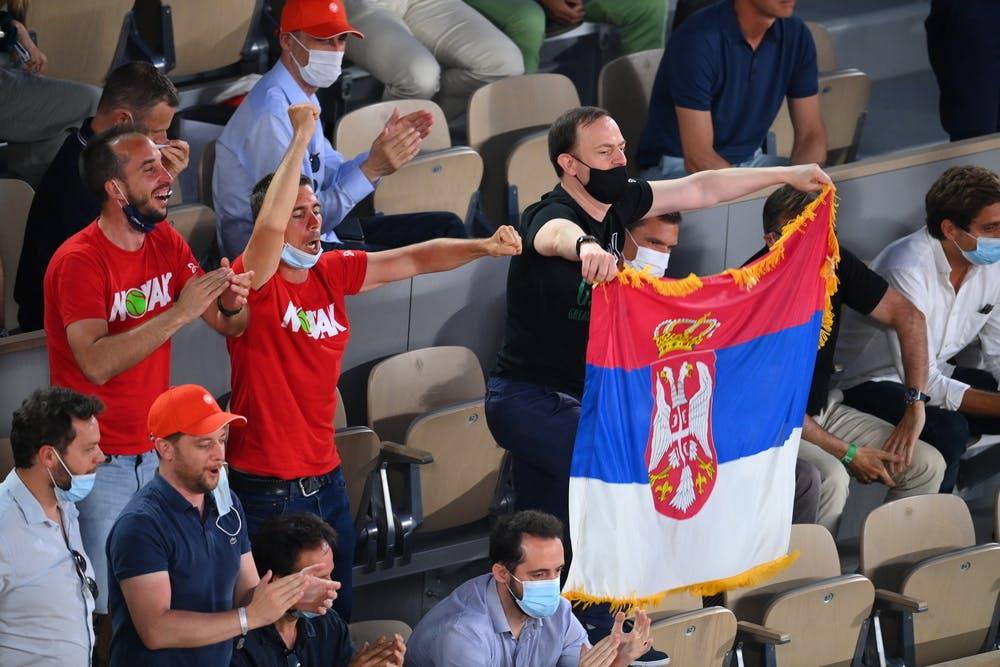 Novak Djokovic fans, Roland-Garros 2021, semi-final