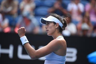 Garbine Muguruza during Australian Open 2020