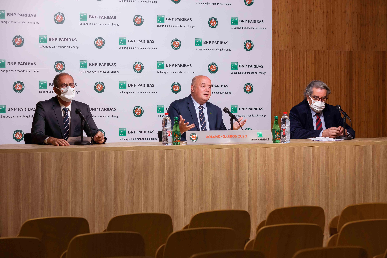 Bernard Giudicelli, Guy Forget, Jean-François Vilotte, Roland-Garros 2020, conférence de presse, bilan tournoi