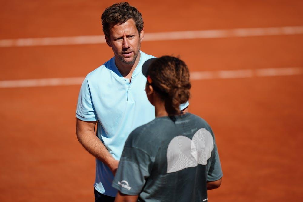 Wim Fissette, Naomi Osaka, Roland Garros 2021 practice