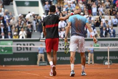Roland-Garros 2018, 1/4 de finale, Marco Cecchinato, Novak Djokovic