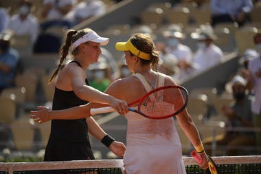 Anastasia Pavlyuchenkova, Elena Rybakina, Roland Garros 2021, quarter-final
