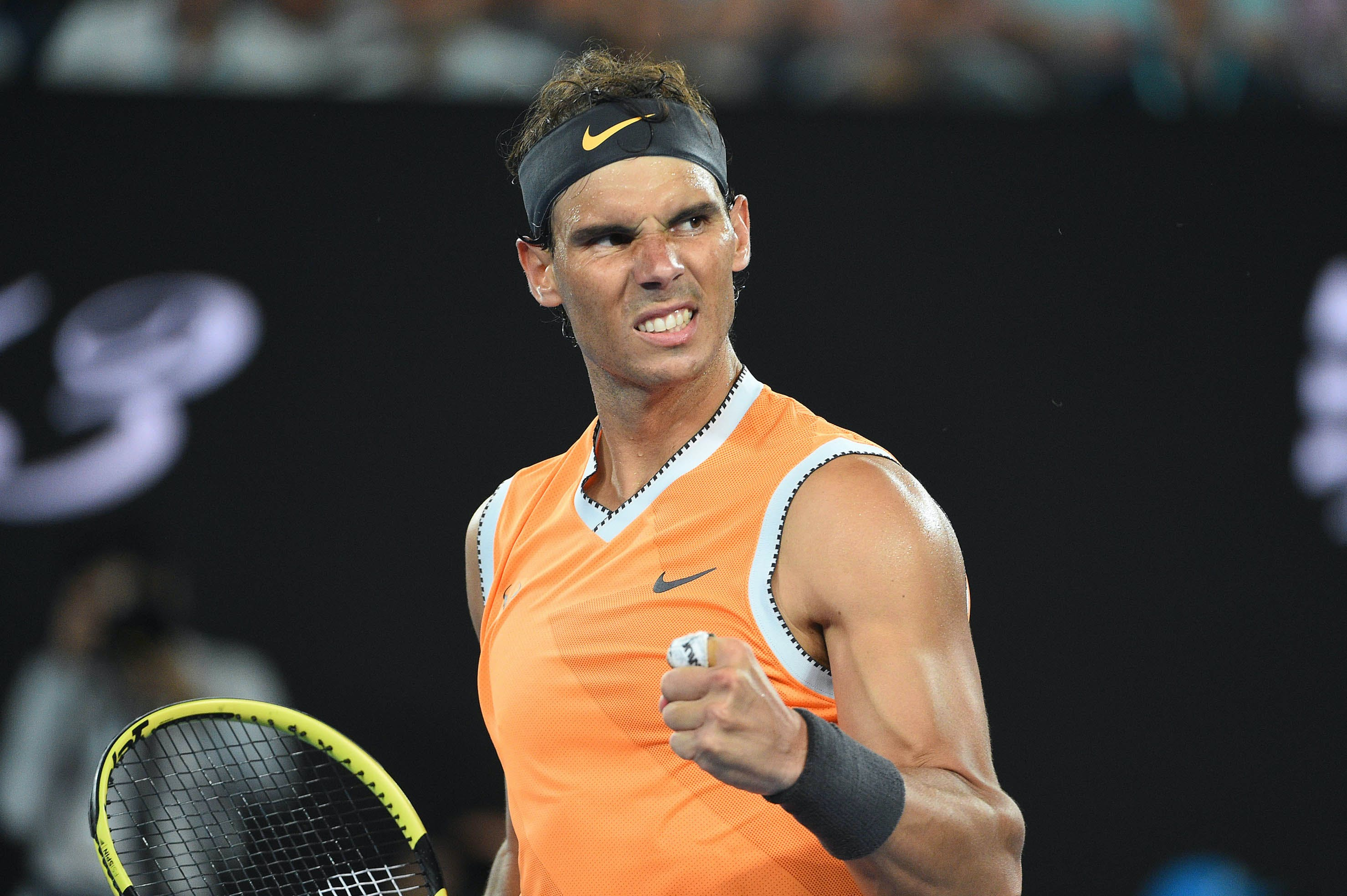 Rafael Nadal after his quartefinal win at the 2019 Australian Open