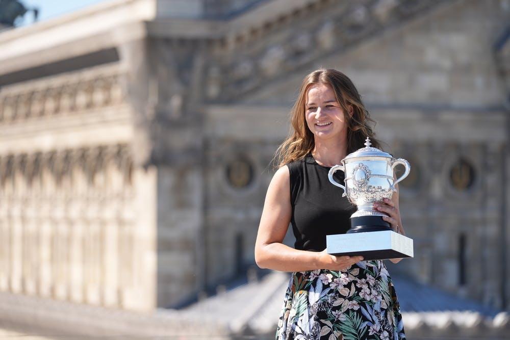 Barbora Krejcikova, Roland Garros 2021, trophy shoot