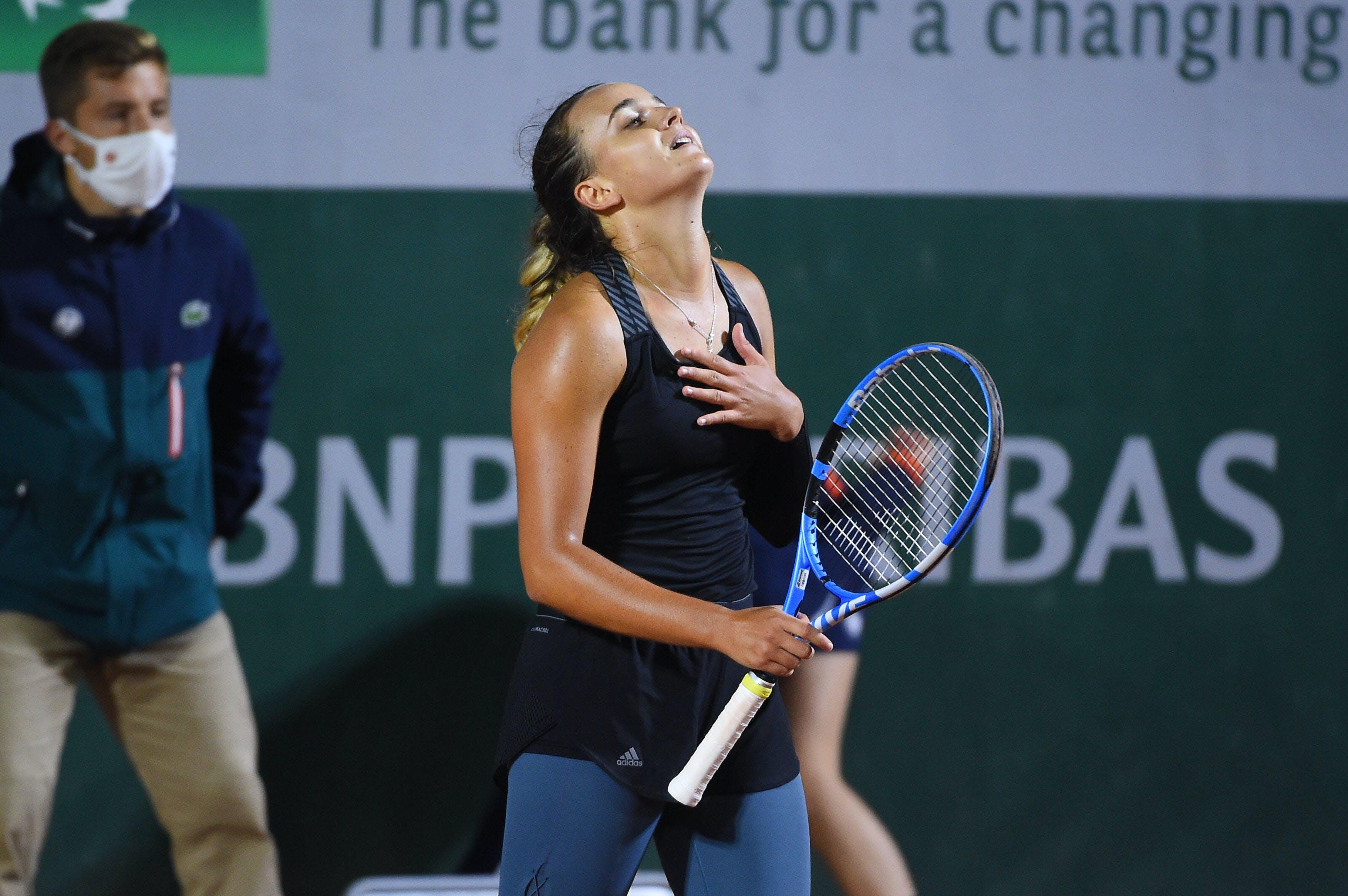 Clara Burel a gagné son 1er match en Grand Chelem à Roland-Garros 2020