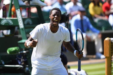 Gaël Monfils cri de joie et de rage à Wimbledon 2018