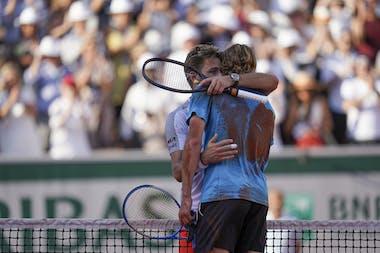 Wawrinka against Tsitsipas during 4th round, Roland-Garros 2019