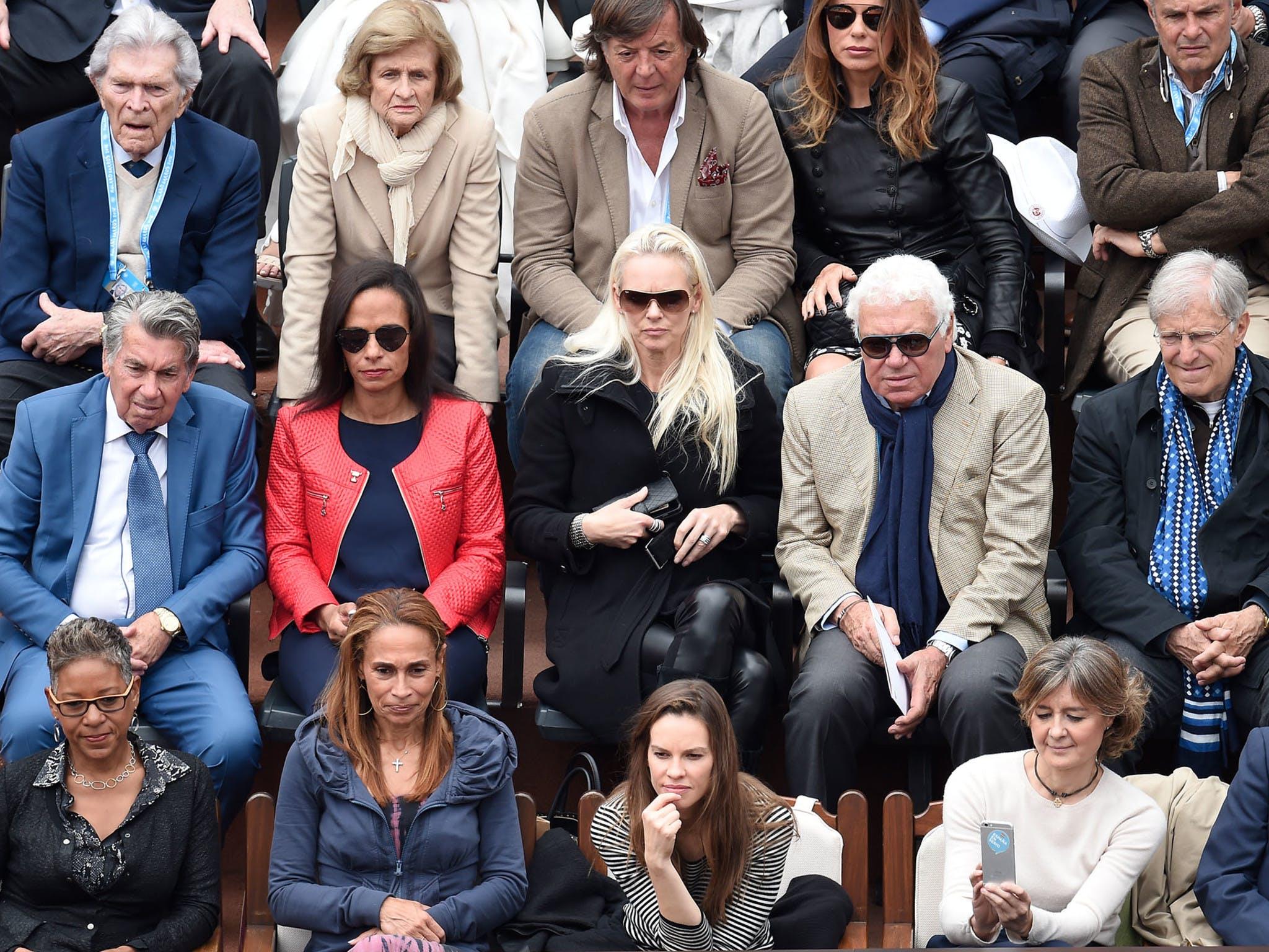Hillary Swank, Roland-Garros 2016 (en bas au centre).