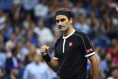 Roger Federer during the 2019 US Open