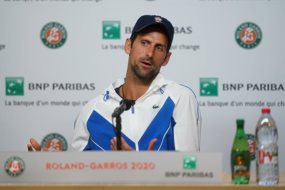 Novak Djokovic, Roland Garros 2020, press conference