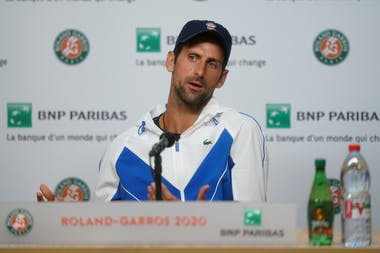Novak Djokovic, Roland Garros 2020, press conference