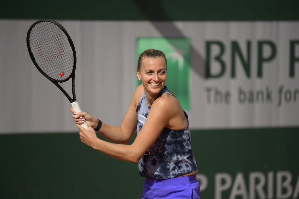 Petra Kvitova, Roland Garros 2021, practice