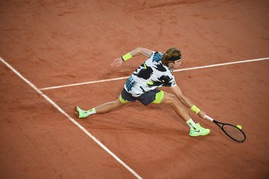 Andrey Rublev, Roland-Garros 2020, 1e tour