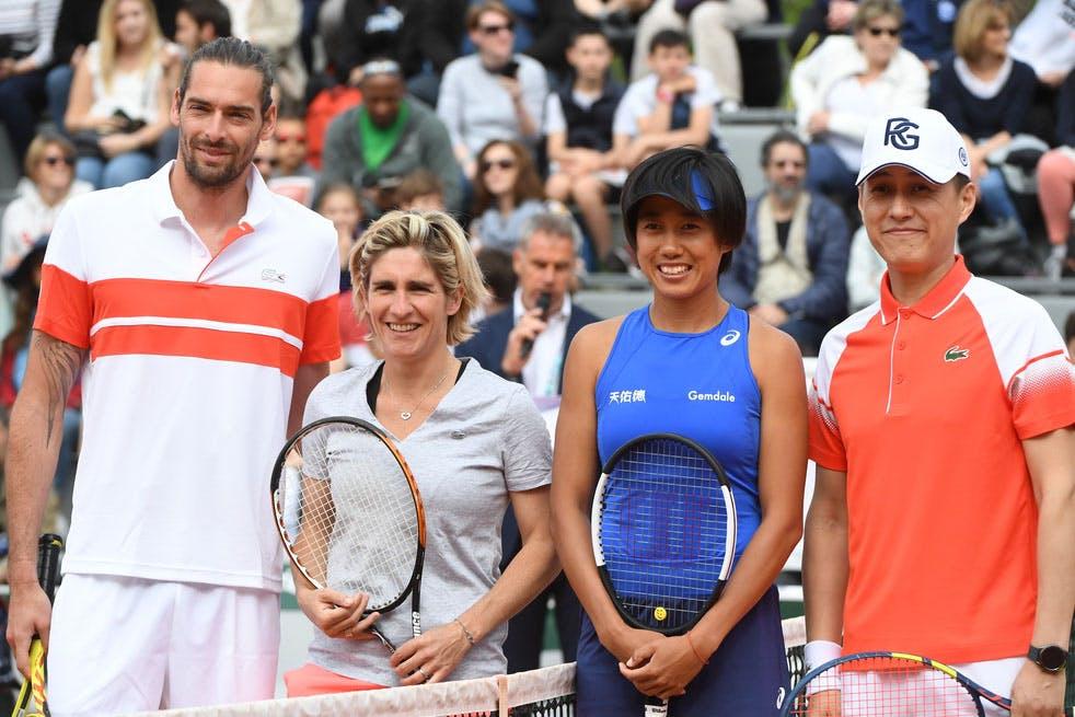 Roland-Garros 2019 - Les Enfants de Roland-Garros - Stars, set et match- Demi-finales - Camille Lacourt - Emilie Loit - Shuai Zhang -Jin Dong