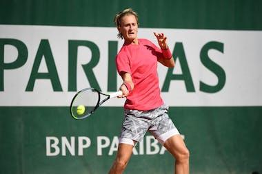 Sebastian Korda, Roland Garros 2020, qualifying first round.