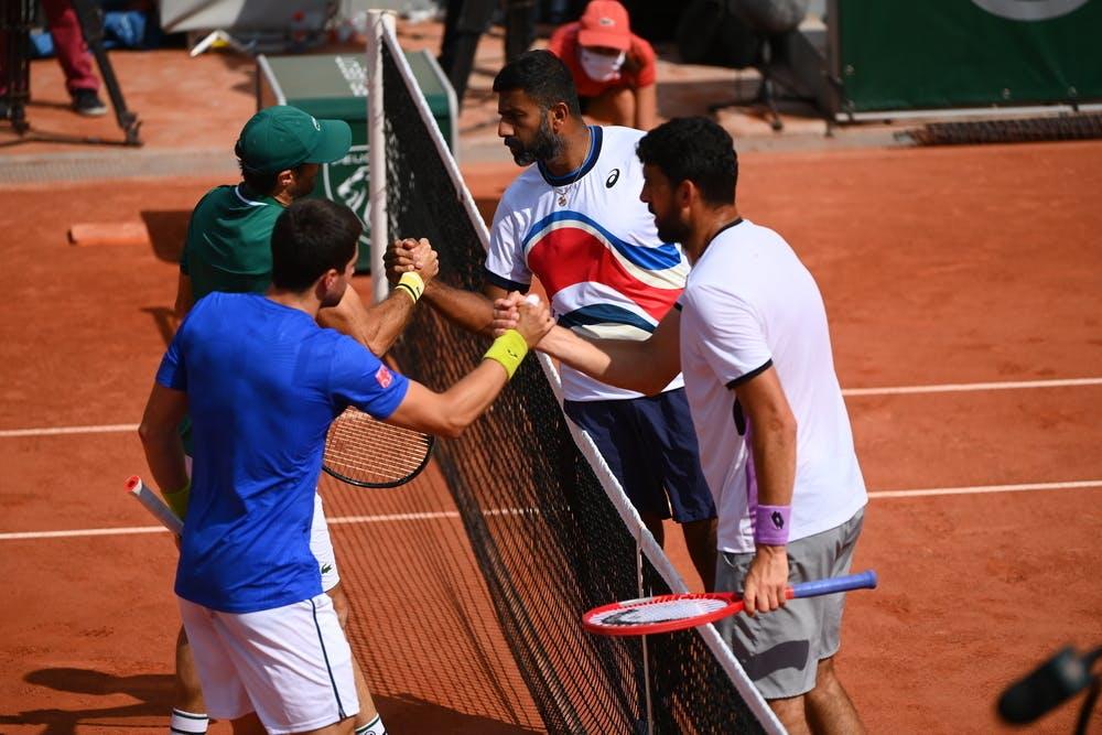 Pablo Andújar, Pedro Martinez, Rohan Bopanna, Franko Skugor, Roland-Garros 2021, men's doubles quarter-final