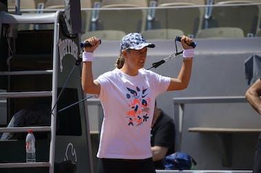 Victoria Azarenka, Roland Garros 2021, practice