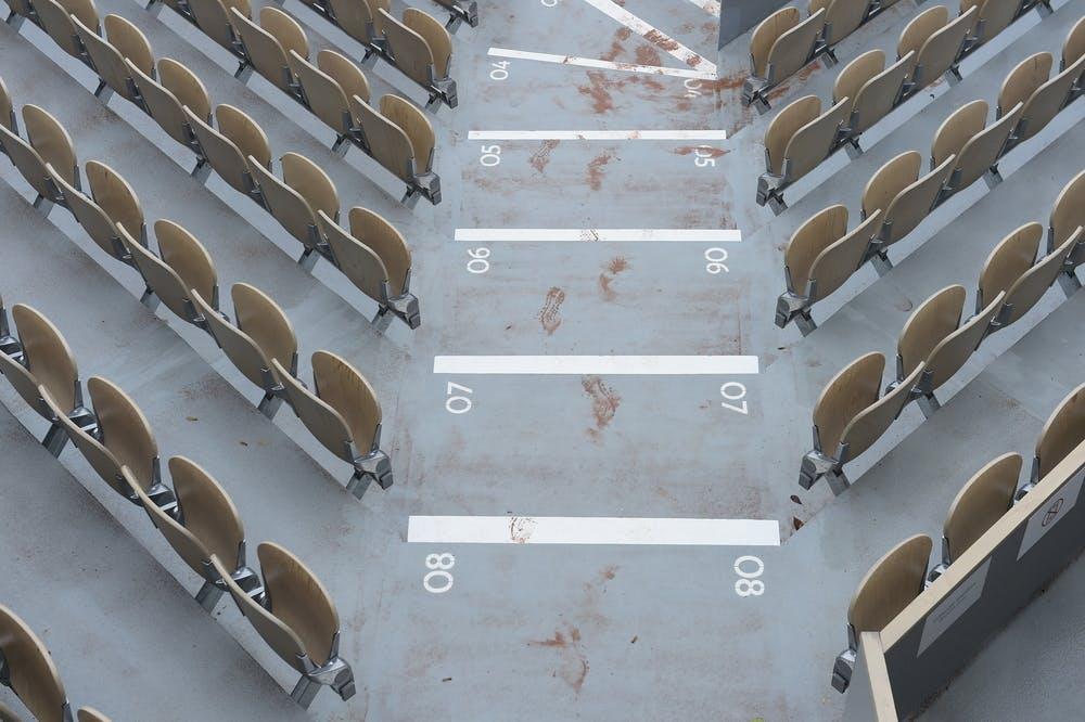 Tribunes, escaliers, roland-garros