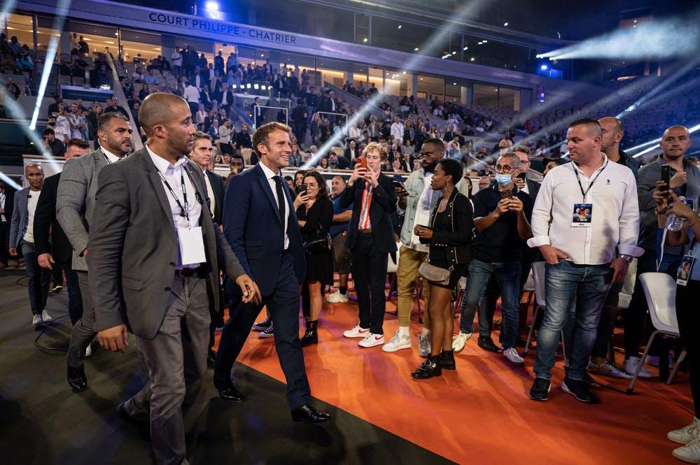 Emmanuel Macron - Boxe Roland-Garros 2021