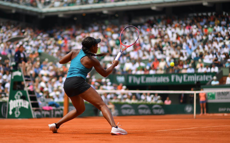 Sloane Stephens lors de la finale de Roland-Garros 2018