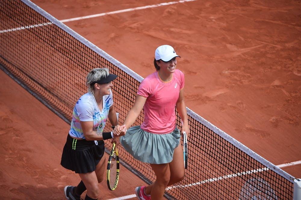 Bethanie Mattek-Sands, Iga Świątek, Roland-Garros 2021,