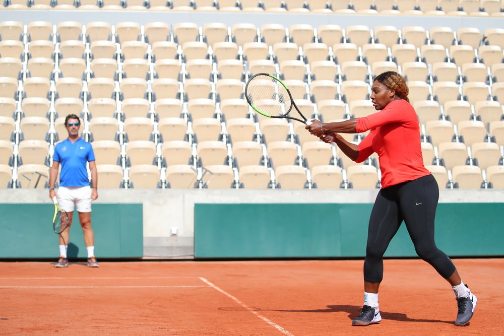Serena Williams - Roland-Garros 2019 - Patrick Mouratoglou - court Philippe-Chatrier