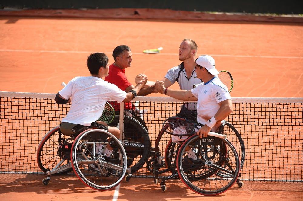 Nicolas Peifer, Stephane Houdet, Gustavo Fernandez, Shingo Kunieda, Roland Garros 2018, Double Messieurs Tennis Fauteuil, Premier Tour