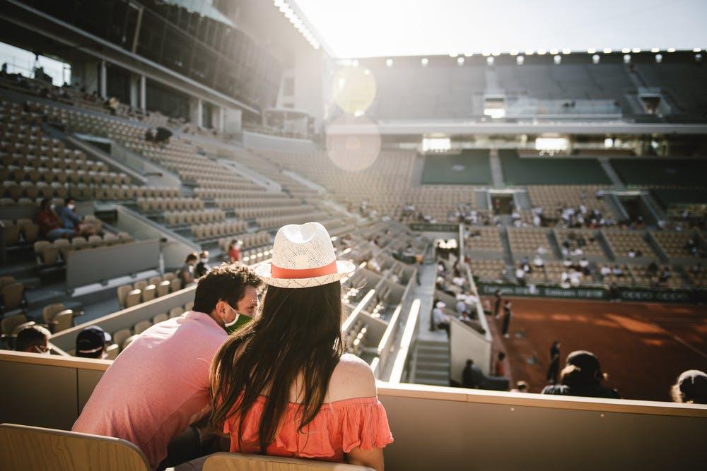 Spectateurs Roland-Garros Tribunes