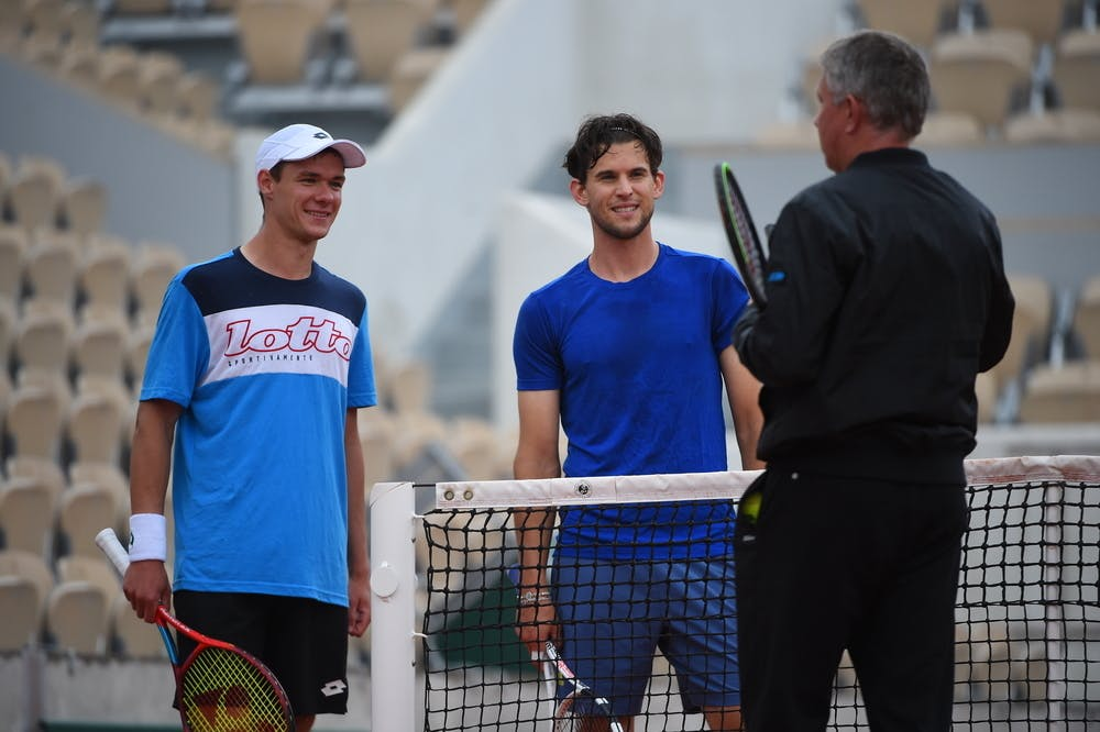 Dominic Thiem, Kamil Majchrzak, Roland Garros 2021, practice