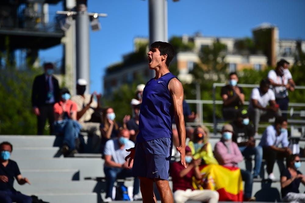 Carlos Alcaraz, Roland Garros 2021, first round