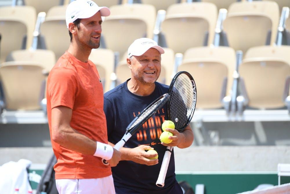 Novak Djokovic coach Marian Vajda Roland Garros