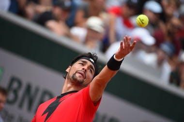 Fabio Fognini Roland-Garros 2018.