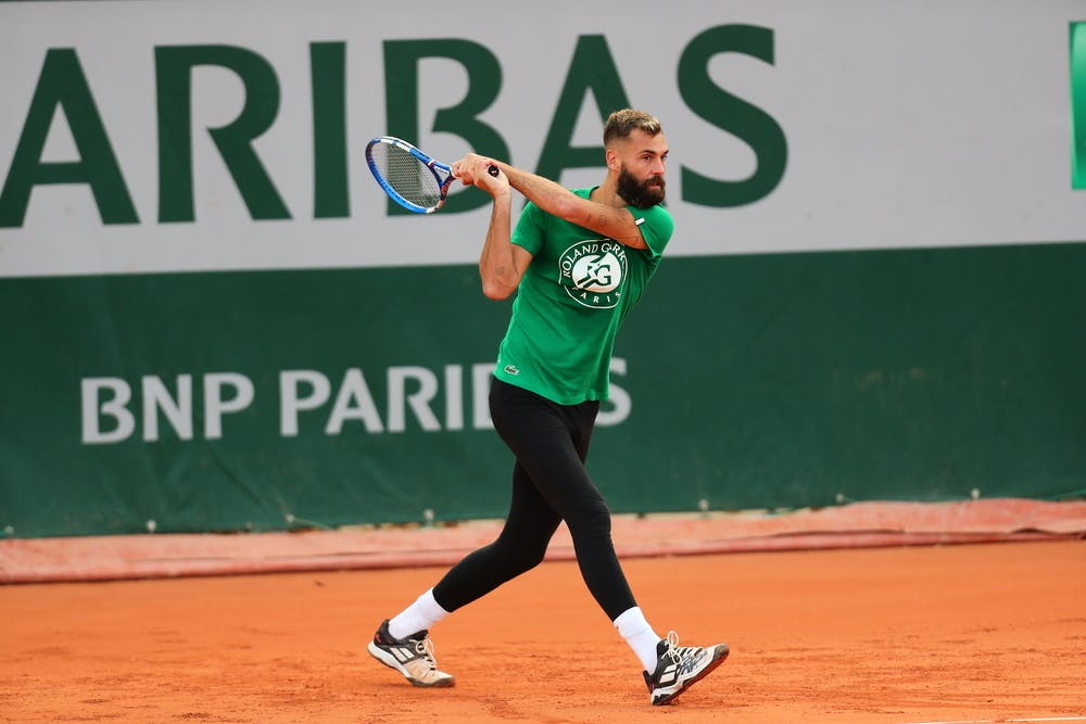 Benoît Paire, Roland-Garros 2020, entraînement